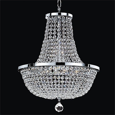 Glow Lighting Synergy 8-Light Empire Chandelier; 20.5'' H x 16'' W