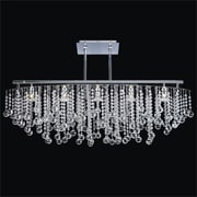 Glow Lighting Crystal Rain 5-Light Duo Mount Pendant