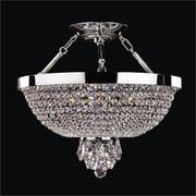 Glow Lighting Modern Times 5-Light Semi-Flush Mount; Danube Clear Crystal