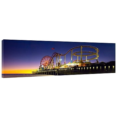 Colossal Images Santa Monica Glow Photographic Print on Wrapped Canvas