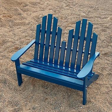 Prairie Leisure Design Junior Wood Garden Bench; Berry Blue