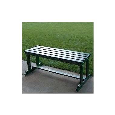 Prairie Leisure Design Backless Wood Picnic Bench; Hunter Green