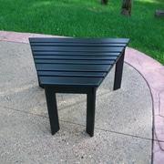 Prairie Leisure Design Tete-A-Tete Side Table; Hunter Green