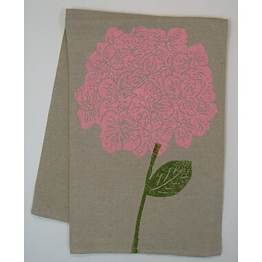 Lowcountry Linens Natural Hydrangea Kitchen Towel; Shell