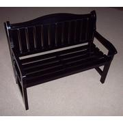Prairie Leisure Design Wood Garden Bench; Black