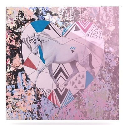 KESS InHouse Unicorn by Vasare Nar Graphic Art Plaque; 10'' H x 10'' W
