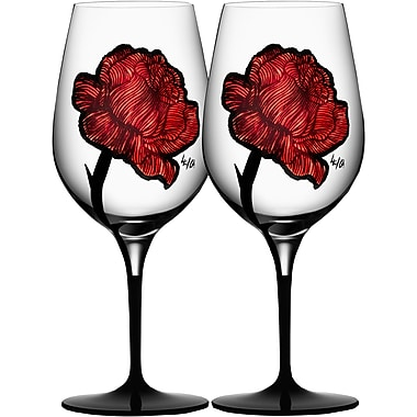 Kosta Boda Tattoo Wine Glass (Set of 2)
