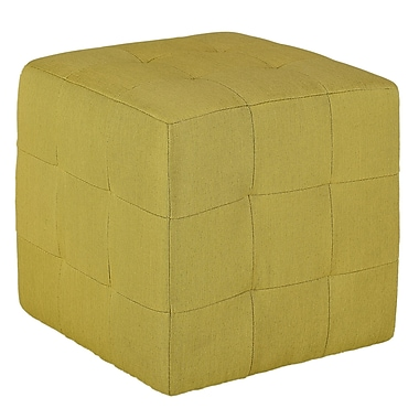 Cortesi Home Braque Citron Cube Ottoman