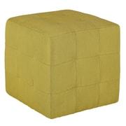 Cortesi Home Braque Citron Cube Ottoman