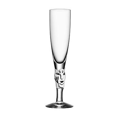 Kosta Boda Open Minds Champagne Glass; White