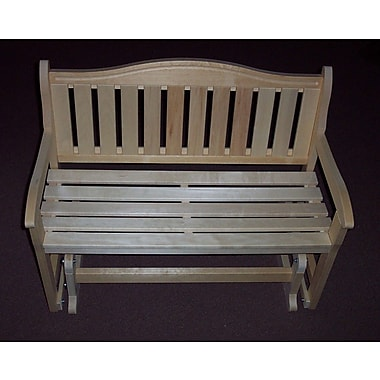 Prairie Leisure Design Glider Wood Garden Bench; Unfinished Aspen