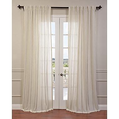 Half Price Drapes Aruba Striped Sheer Rod Pocket Single Curtain Panel; 50'' W x 96'' L