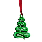 Orrefors Holly Days Christmas Tree Ornament; Green
