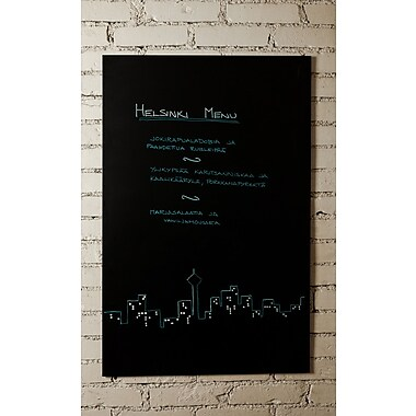 Paperflow Rocada Skin Wall Mounted Magnetic Chalkboard; 4'10'' H x 3'2'' W