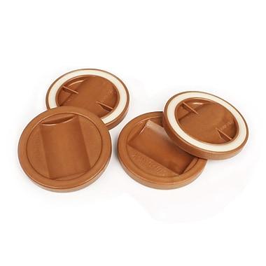 Slipstick Bed Roller/Furniture Wheel Gripper Cup Coaster (Set of 4); Caramel