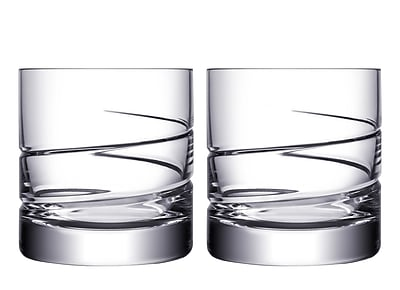 Orrefors Swerve DOF 13 oz. Crystal Cocktail Glass (Set of 2)