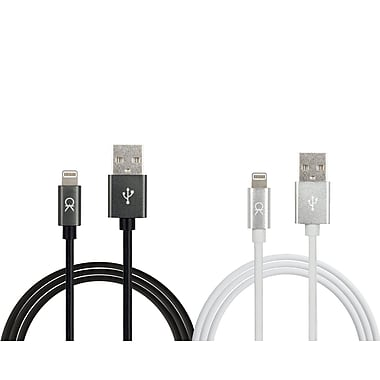 Akiko Apple Certified Mfi Cable Charger, 2M, White & Black