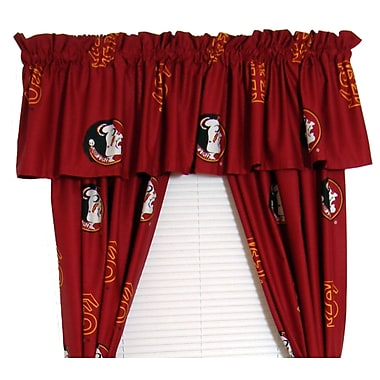 College Covers NCAA Florida State Rod Pocket Curtain Panels (Set of 2); 42'' W x 84'' L