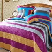 DaDa Bedding Suburban Stripes Quilt Set; Twin