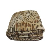 DaDa Bedding Leopard/Cheetah Polar Blanket; Twin