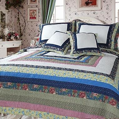 DaDa Bedding Spring Patio Quilt Set; Twin