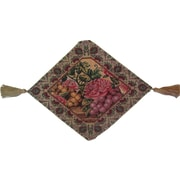 DaDa Bedding Parade of Fruit and Rose Woven Table Runner
