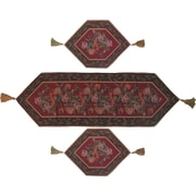 DaDa Bedding Field of Roses 3 Piece Woven Table Runner Set