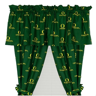 College Covers NCAA Oregon Rod Pocket Curtain Panel (Set of 2); 42'' W x 84'' L