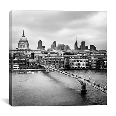 iCanvas London Millenium Bridge by Nina Papiorek Photographic Print on Wrapped Canvas