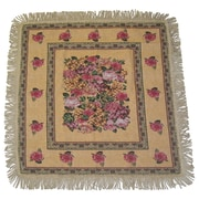 DaDa Bedding Parade of Fruit and Rose Woven Tablecloth