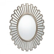 """Quoizel Reflections QR1413 37.5""""H x 28""""W Wall Mirror, Antique Silver"""