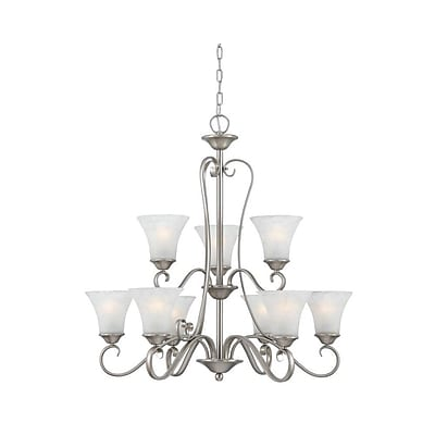 Quoizel DH5009AN Incandescent Chandelier, Antique Nickel