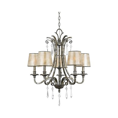 Quoizel KD5005MM Incandescent Chandelier, Mottled Silver