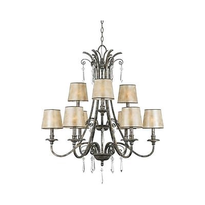Quoizel KD5009MM Incandescent Chandelier, Mottled Silver