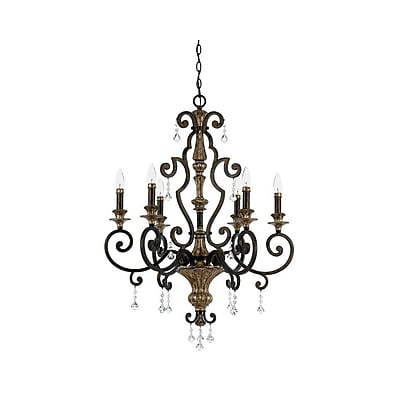 Quoizel MQ5006HL Incandescent Chandelier, Heirloom