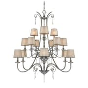 Quoizel KD5015MM Incandescent Chandelier, Mottled Silver