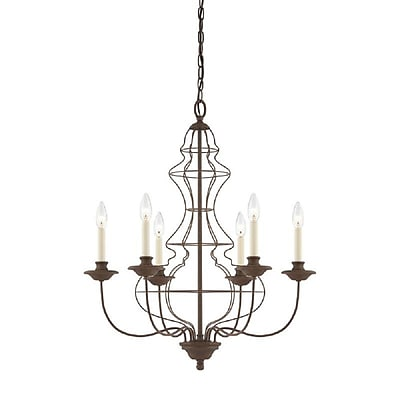 Quoizel LLA5006RA Incandescent Chandelier, Rustic Antique Bronze