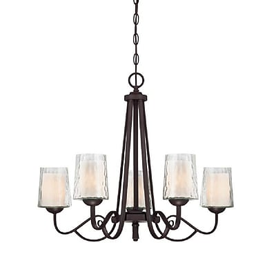 Quoizel ADS5005DC Incandescent Chandelier, Dark Cherry
