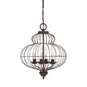 Quoizel LLA5204RA Incandescent Chandelier, Rustic Antique Bronze