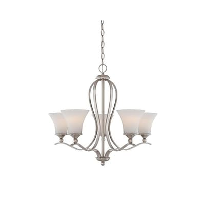 Quoizel SPH5005BN Incandescent Chandelier, Brushed Nickel