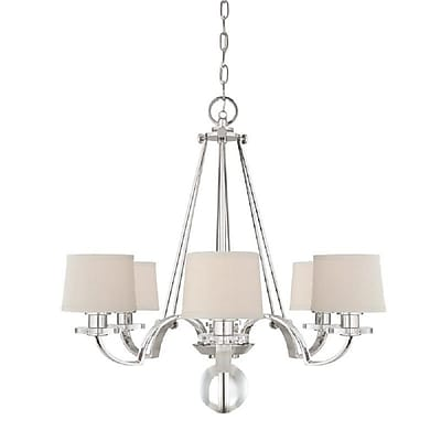 Quoizel UPSP5006IS Incandescent Chandelier, Imperial Silver