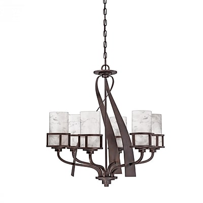 Quoizel KY5006IN Incandescent Chandelier, Iron Gate