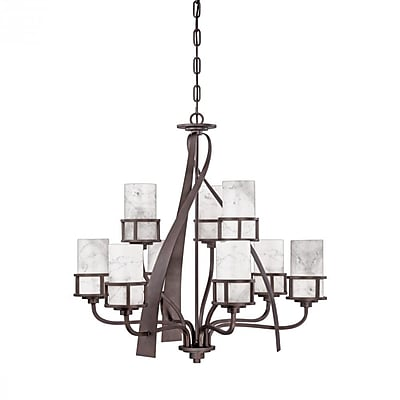 Quoizel KY5009IN Incandescent Chandelier, Iron Gate