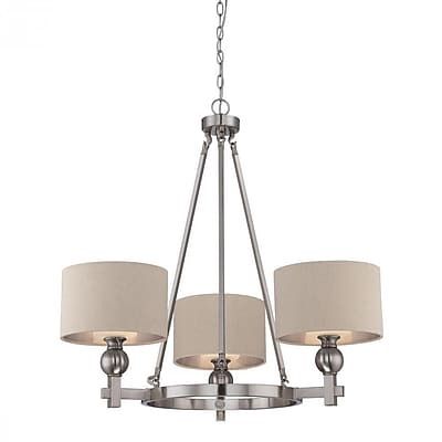 Quoizel CKMO5003BN Incandescent Chandelier, Brushed Nickel