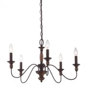 Quoizel HK5005TC Incandescent Chandelier, Tuscan Brown