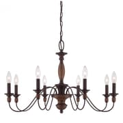 Quoizel HK5008TC Incandescent Chandelier, Tuscan Brown