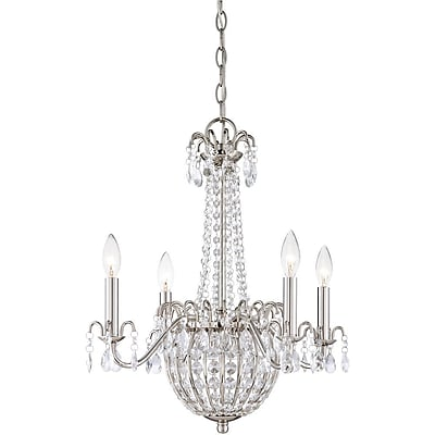 Quoizel JLE5004IS Incandescent Chandelier, Imperial Silver