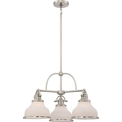 Quoizel GRT5103BN Incandescent Chandelier, Brushed Nickel
