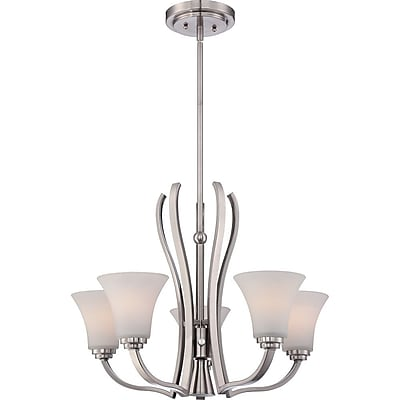 Quoizel KPR5005BN Incandescent Chandelier, Brushed Nickel