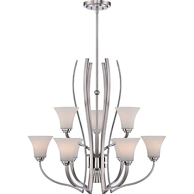 Quoizel KPR5009BN Incandescent Chandelier, Brushed Nickel